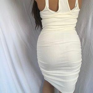 SEXY CREAM BODY CON DRESS
